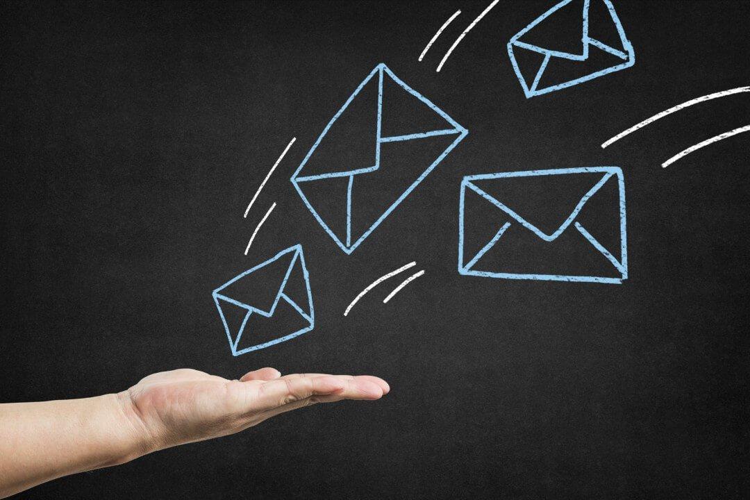 não salva e-mails